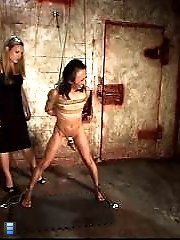 Slave Degraded, Caned And Spat On