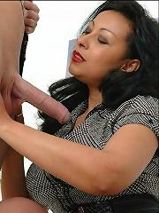 Sultry Ebony Handjob